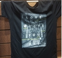 Picture of Love Where You Are T Shirt Black Bridge